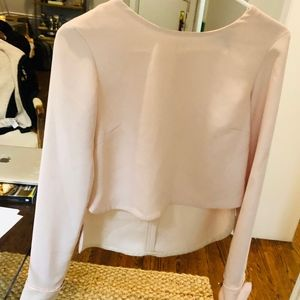 Intermix size small nude pink blouse